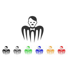 Hitler croupier monster icon vector