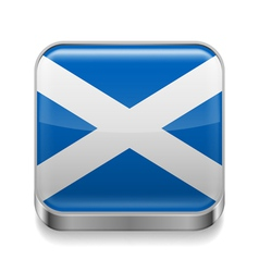 Metal icon of Scotland vector image