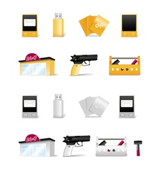 Modern stuff collection vector