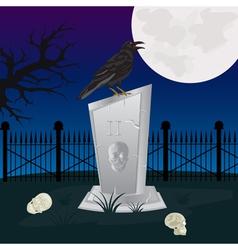 Night on graveyard vector