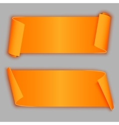 Orange curved banners vector