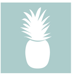 pineapple the white color icon vector image
