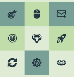 Set of simple search icons vector