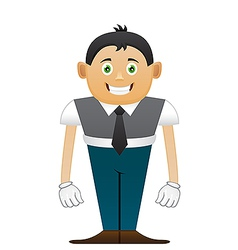 Small office man vector image vector image