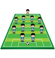 soccer strategy vector image vector image