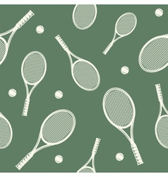 Tennis rackets seamless pattern vector