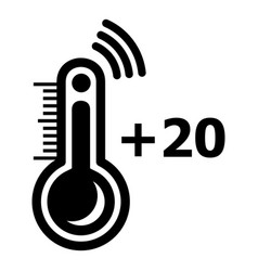thermometer icon simple black style vector image