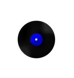 Vinyl blue vector image vector image