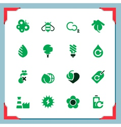 Environmental icons in a frame series vck vector