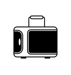 Suitcase travel equipment line vector