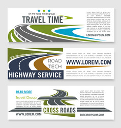 Road travel and highway service banner template vector