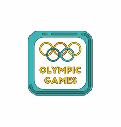 sign symbol olympics games vector image