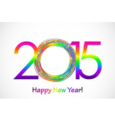 Colorful 2015 happy new year background vector