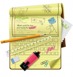 notepad xxl icon vector