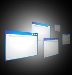 Perspective computer windows vector