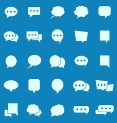 Speech bubble color icons on blue background vector
