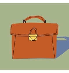 Business briefcase object icon vector