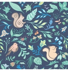 Summer Forest Pattern vector image