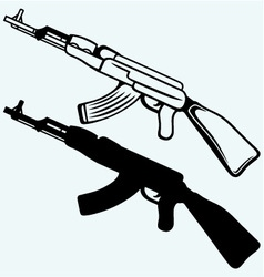 Assault rifle ak47 vector