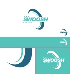 Swoosh half abstract symbol branding design elemen vector