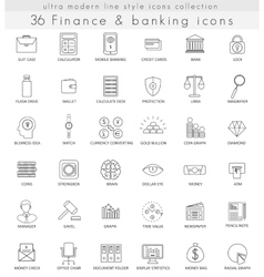 Finance and banking ultra modern outline vector