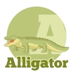 ABC Cartoon Alligator vector image