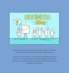 business idea with text on vector image