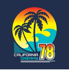 California - vintage badge vector