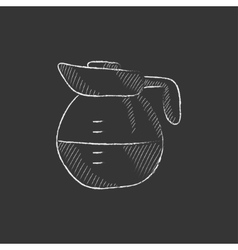 Carafe drawn in chalk icon vector