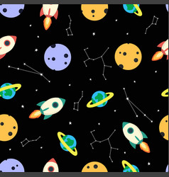 cosmic pattern with constellation vector image