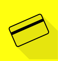 Credit card symbol for download black icon with vector