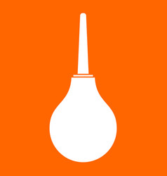Enema white icon vector