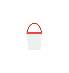 flat icon bucket element of vector image