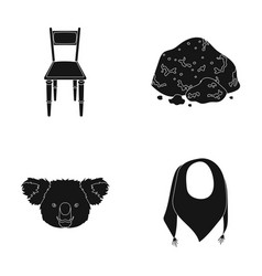 Furniture animal and or web icon in black style vector