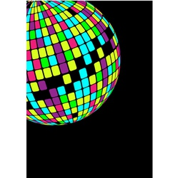 Glowing disco ball vector