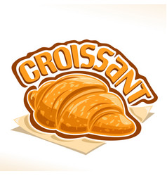 Logo for french croissant vector