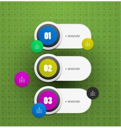 Option switch banner template vector image