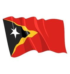 Political waving flag of east timor vector