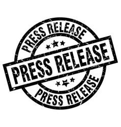 Press release round grunge black stamp vector