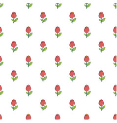 Red flower pattern vector