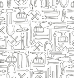 Seamless pattern blacksmith vector image