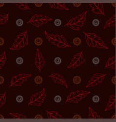 seamless pattern of orange and white daisies with vector image vector image