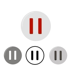 Set of pause buttons vector