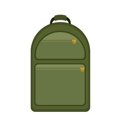 silhouette with backpack camping green vector image
