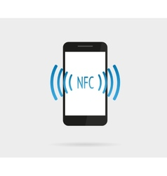 Smartphone with nfc function vector