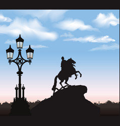 St petersburg cty landmark russia peter the great vector