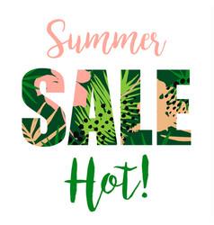 summer sale design template vector image vector image