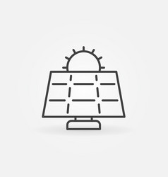 Sun and solar panel icon vector