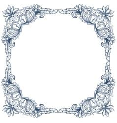Vintage victorian floral frame vector