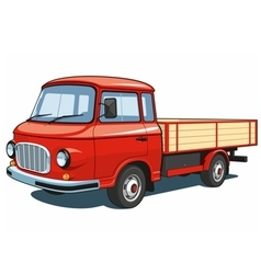 Red small truck vector